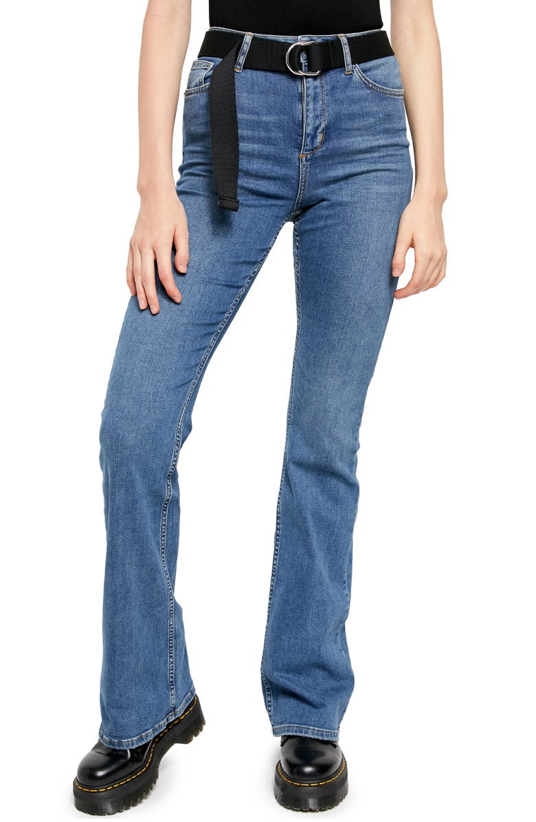 BDG URBAN OUTFITTERS Super Flare Jeans, Main, color, LIGHT DENIM