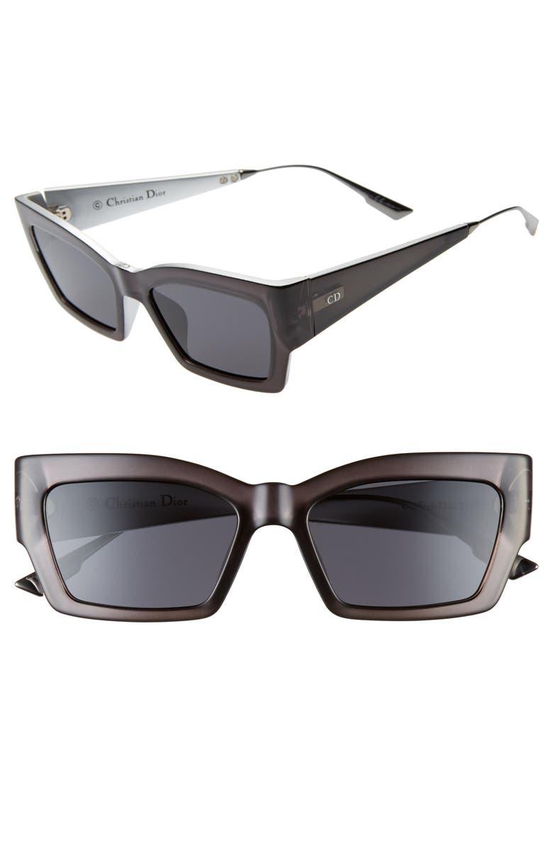 DIOR Catstyle2 45mm Cat Eye Sunglasses, Main, color, GREY/ GREY AR