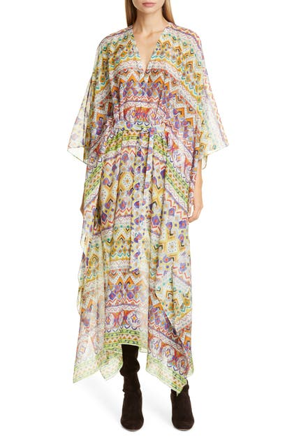 Etro Dresses GEO PRINT COTTON & SILK CAFTAN DRESS