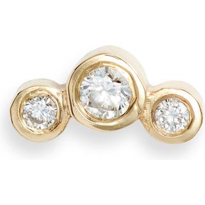 Zoe Chicco Graduated Diamond Curved Stud Earring