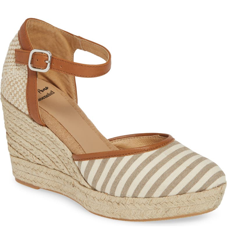 TONI PONS Aura Espadrille Wedge, Main, color, BEIGE FABRIC