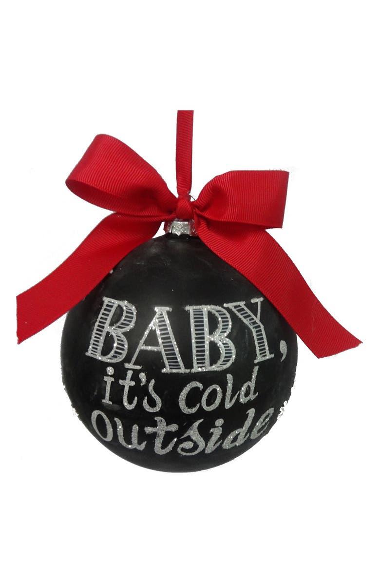 SAGE & CO . 'Cold' Chalkboard Ornament, Main, color, Black