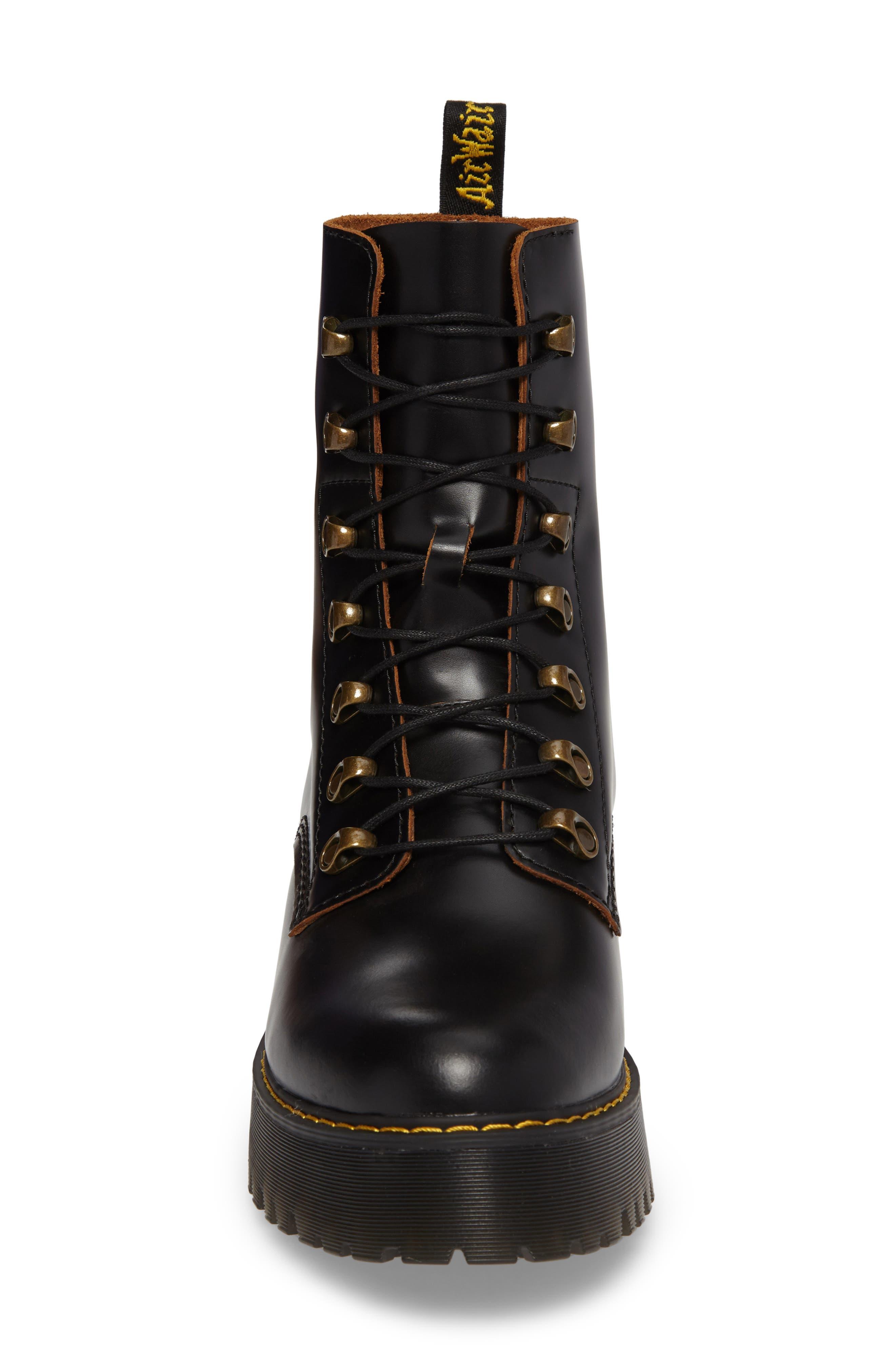 ,                             Leona Heeled Boot,                             Alternate thumbnail 4, color,                             001