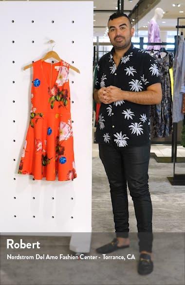 Kinle Floral Skater Dress, sales video thumbnail