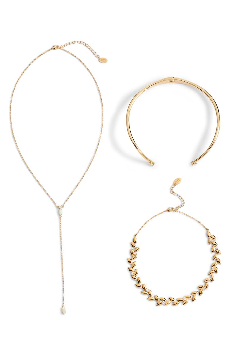 STERLING FOREVER Hearts on Fire Set of 2 Chokers & Lariat Necklace, Main, color, 710