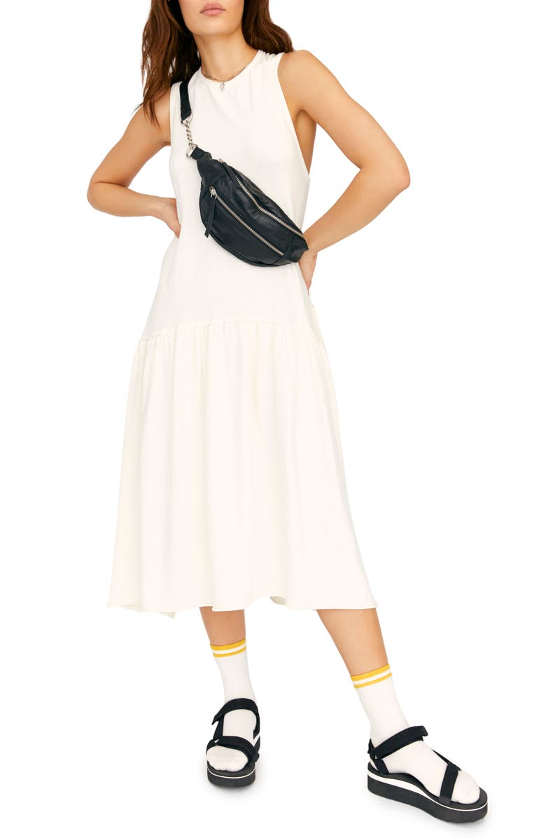 FREE PEOPLE Endless Summer by Free People Drop Waist Midi Dress, Main, color, NEUTRAL