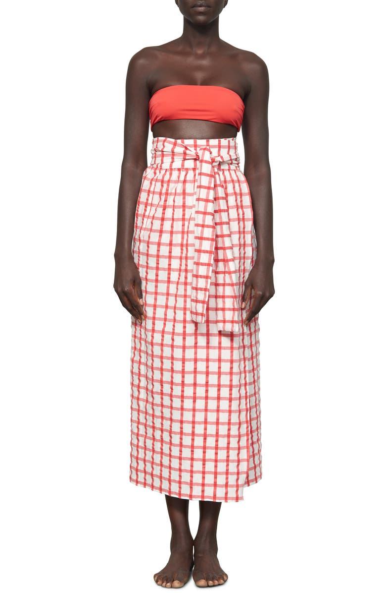 MARA HOFFMAN Cora Cover-Up Wrap Skirt, Main, color, 600