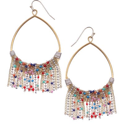 Nakamol Design Chain Fringe Teardrop Earrings