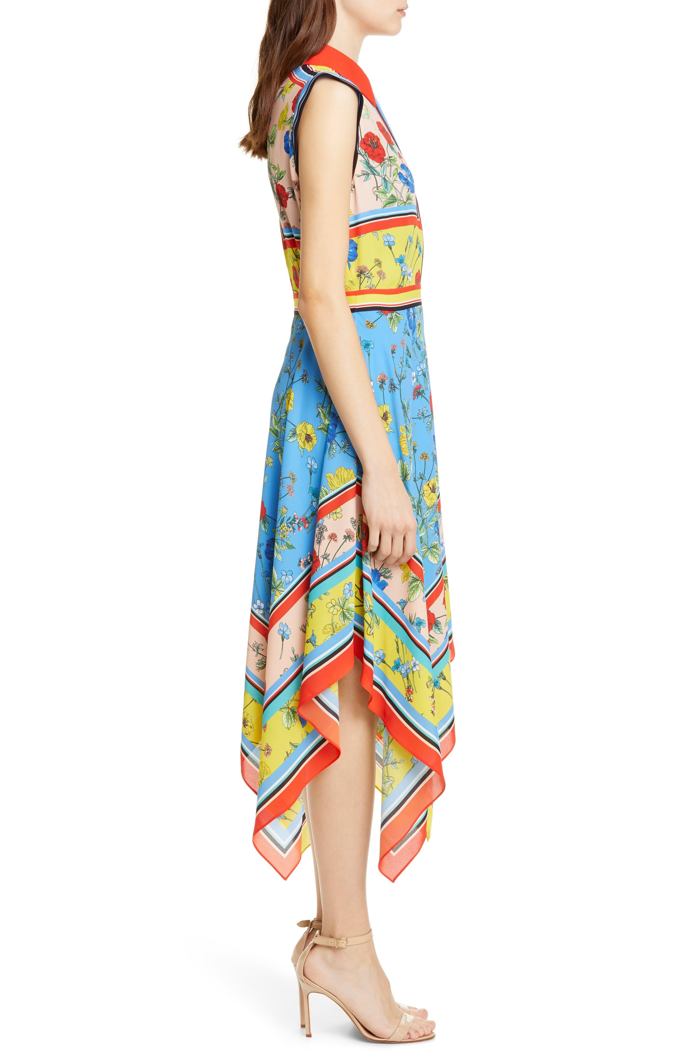 ,                             Farrah Handkerchief Dress,                             Alternate thumbnail 3, color,                             499