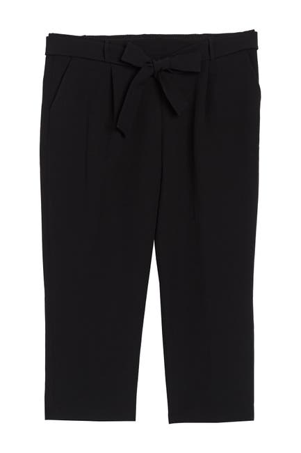 Image of Halogen Waist Tie Cropped Ankle Pants