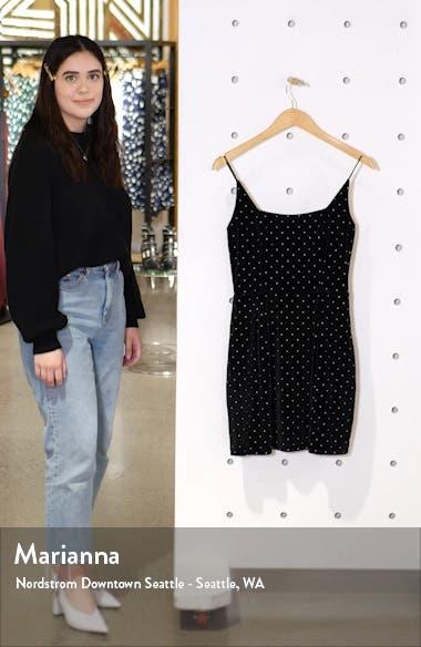 Square Neck Velvet Minidress, sales video thumbnail