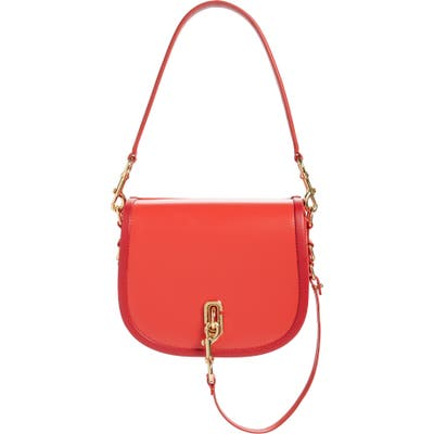 Marc Jacobs Leather Saddle Bag - Red