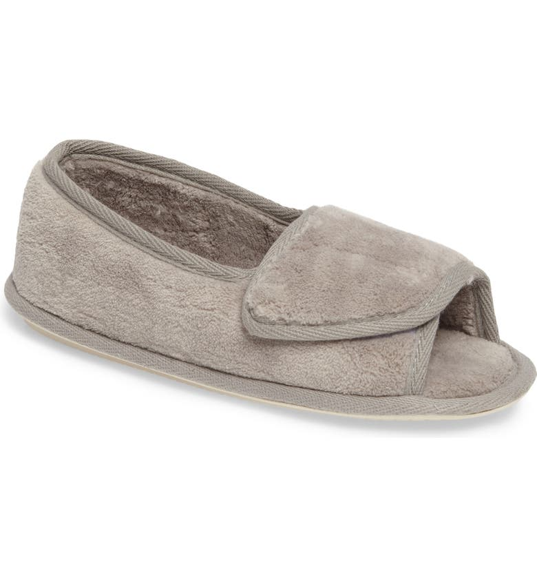 DANIEL GREEN Tara II Slipper, Main, color, GRAY FABRIC