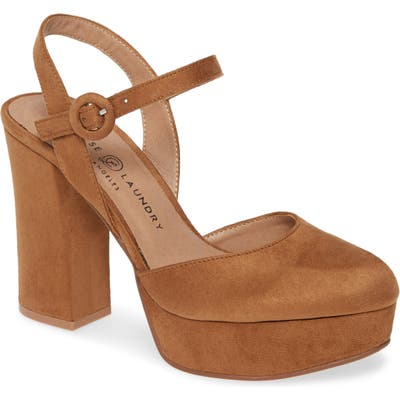 Chinese Laundry Nadia Platform Pump, Brown