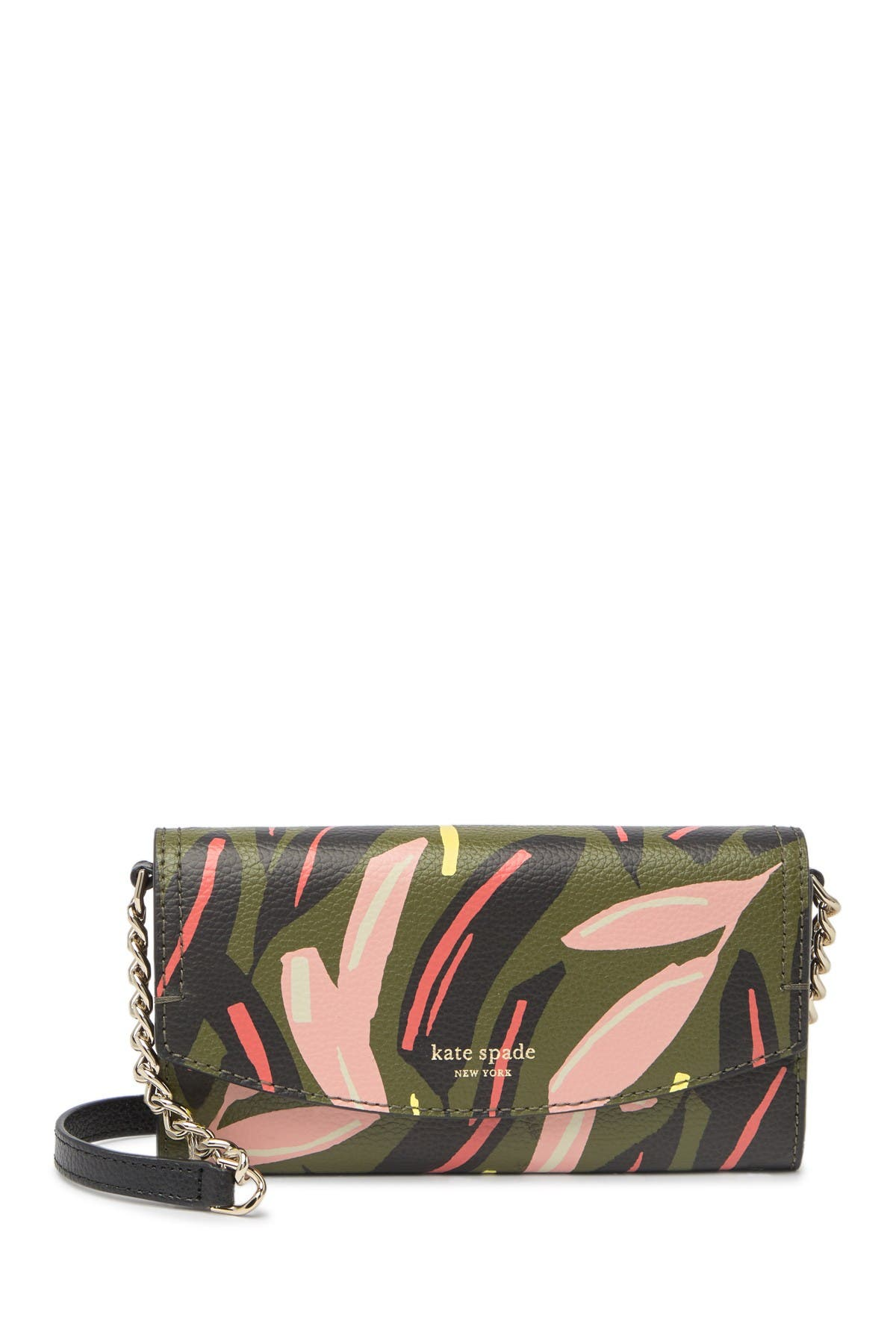 Image of kate spade new york leather eva modern wallet crossbody bag