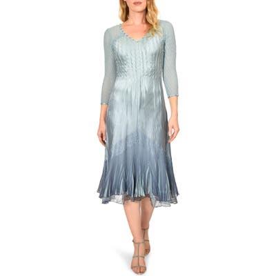 Komarov Chiffon Sleeve Midi Dress, Blue