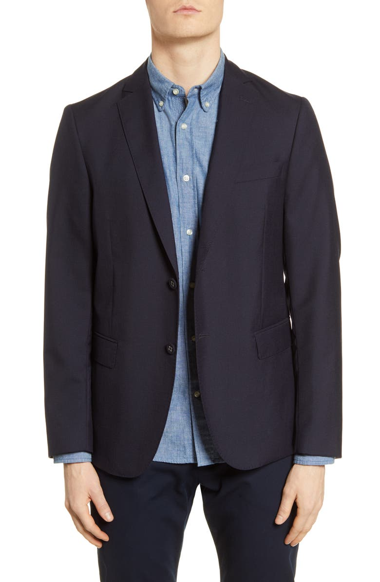 OFFICINE GÉNÉRALE Slim Fit Wool Jacket, Main, color, 410