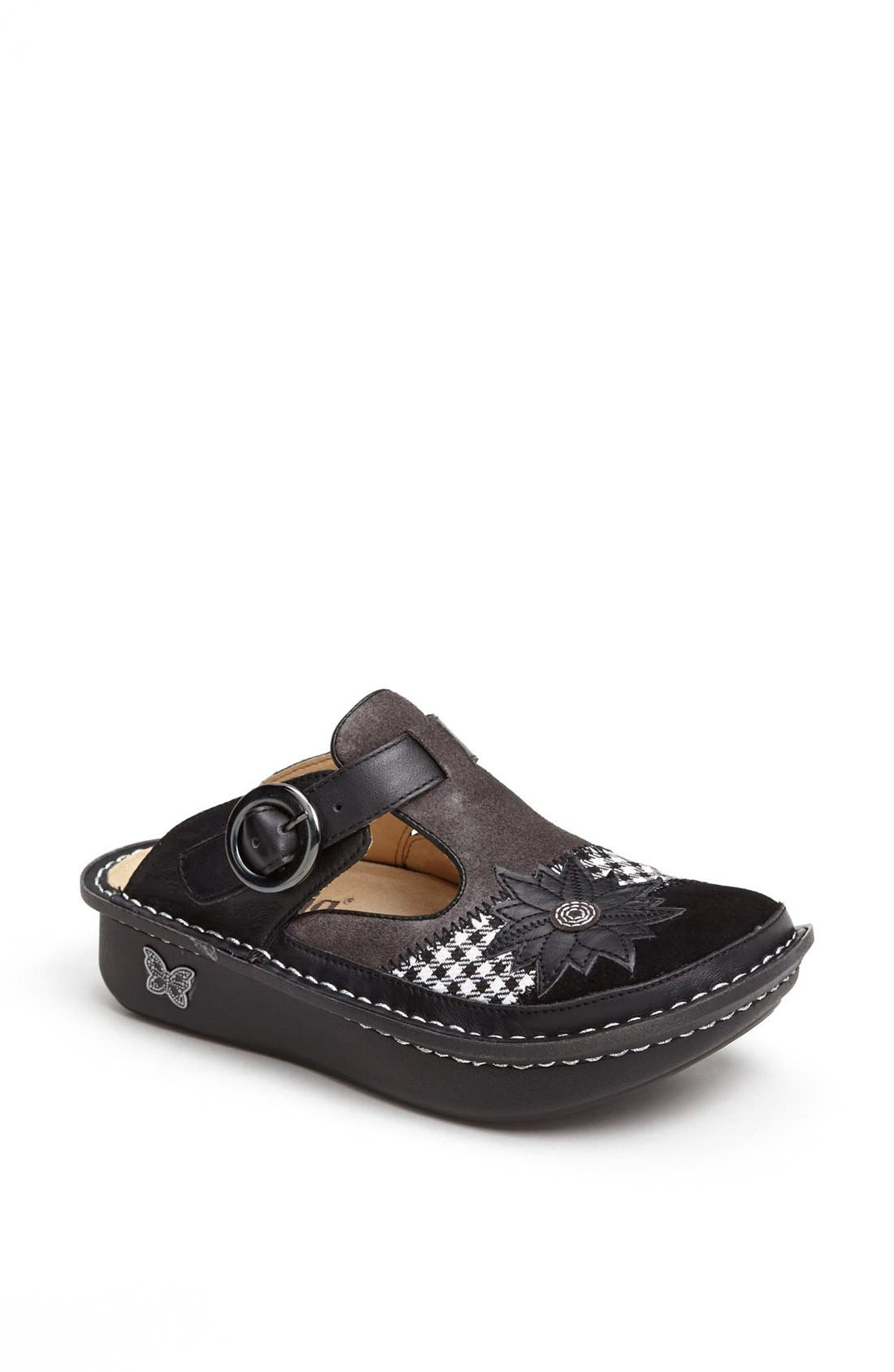 ,                             'Classic' Clog,                             Main thumbnail 1, color,                             LASER TAG LEATHER