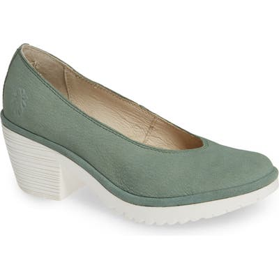 Fly London Walo Pump,8.5- Green