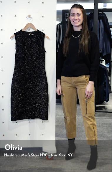 kate spade tinsel tweed sleeveless wool blend sheath dress, sales video thumbnail