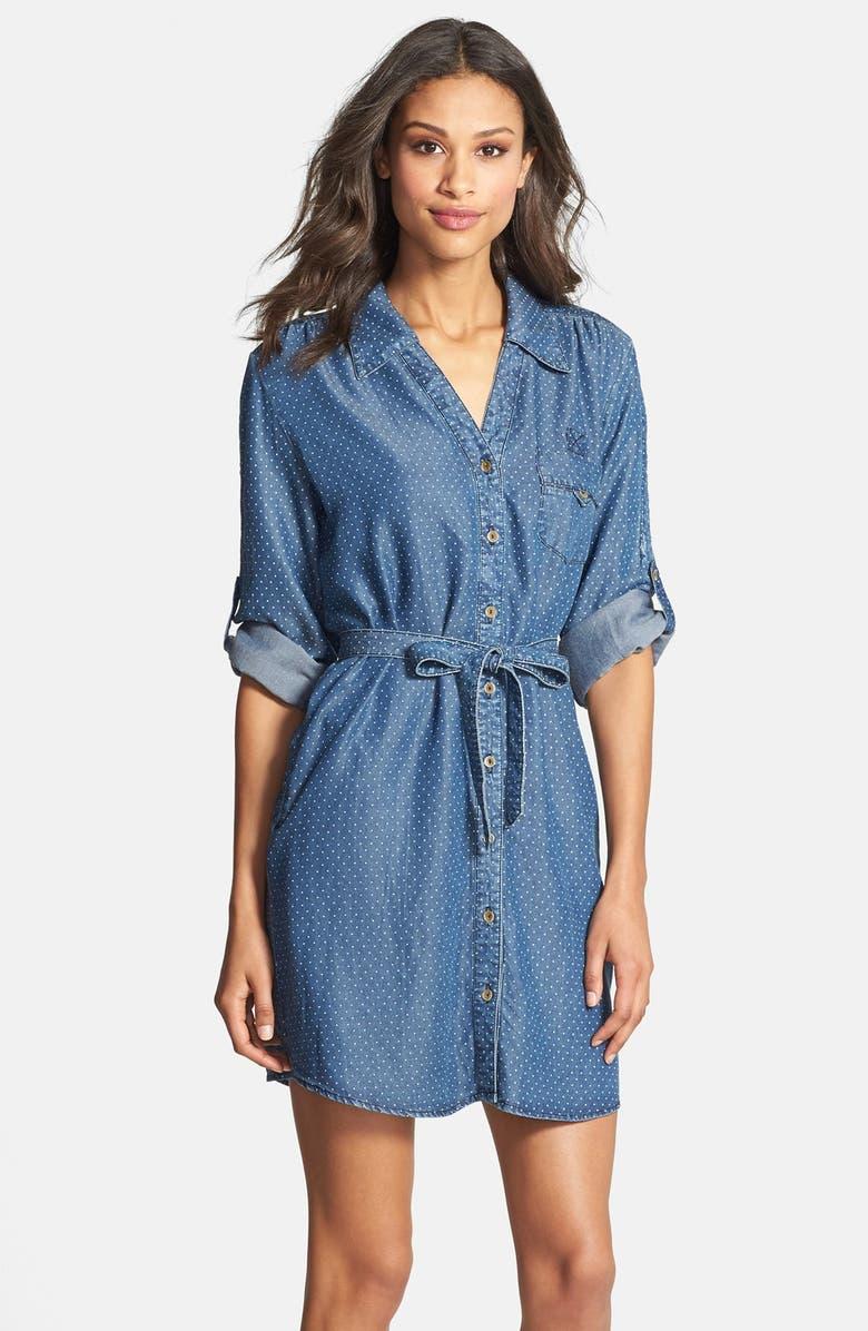 VELVET HEART 'Erin' Pin Dot Shirtdress, Main, color, 420