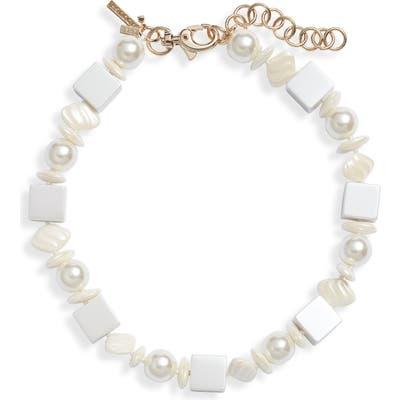Lele Sadoughi Stacked Stone Collar Necklace