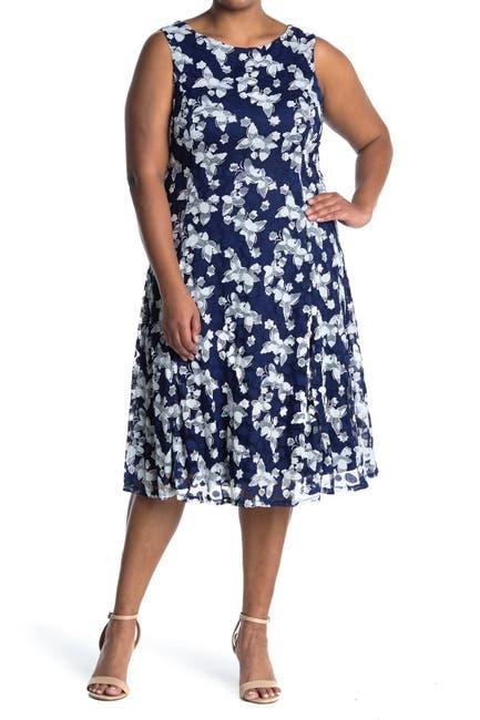 Image of TASH + SOPHIE Printed Fit & Flare Dress