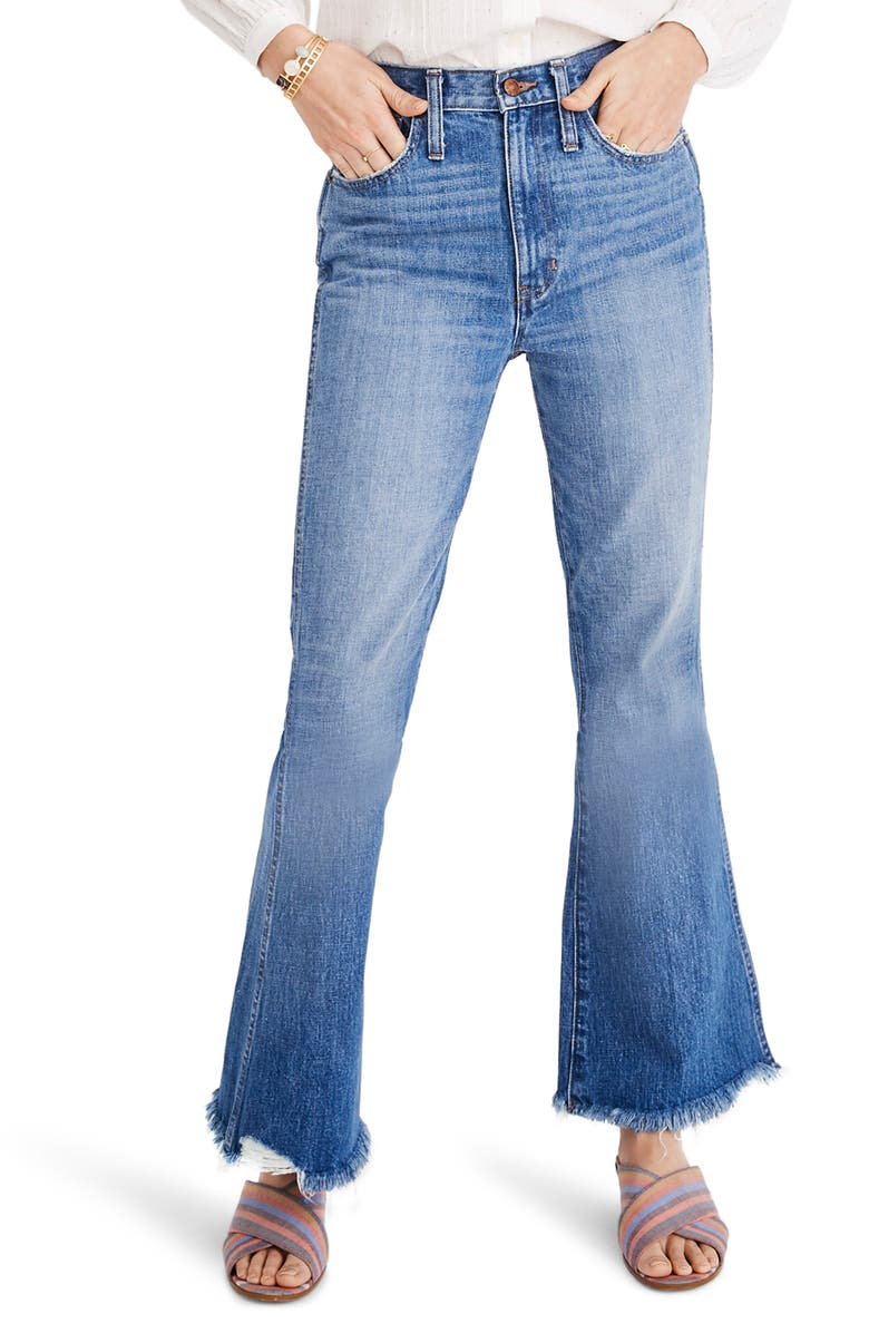 MADEWELL Rigid Flare Jeans, Main, color, 400