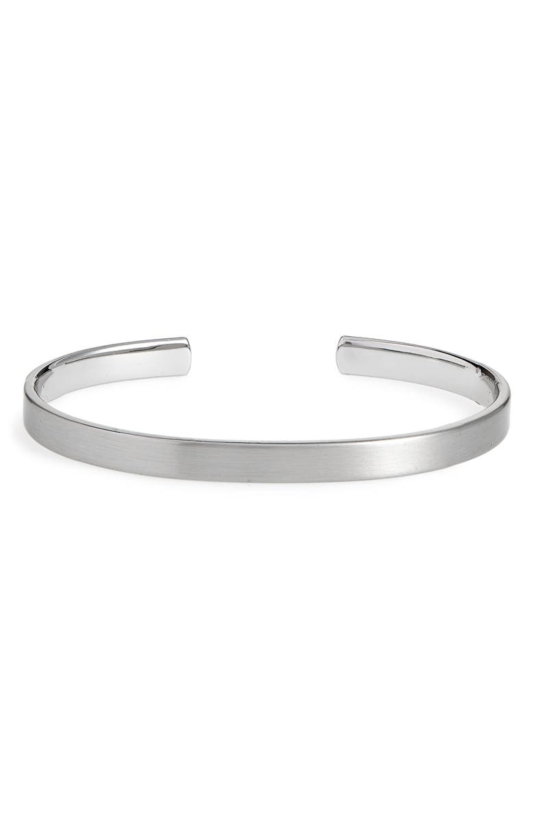 CAPUTO & CO. Caputo and Co. Brass Cuff, Main, color, BRUSHED SILVER TONE