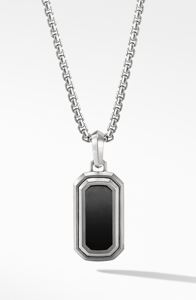 DAVID YURMAN Deco Amulet with Black Onyx, Main, color, BLACK ONYX