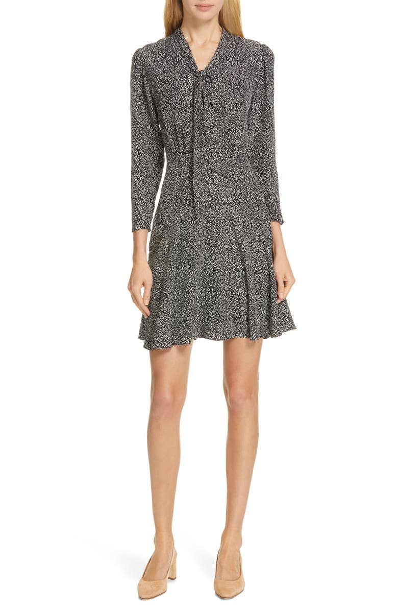 Tie Neck Silk Dress by Tailored By Rebecca Taylor