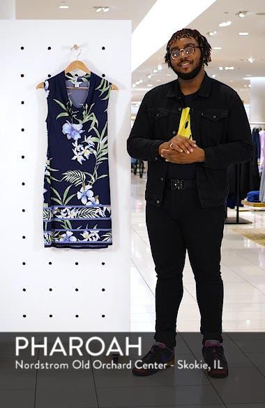 Acqua Dei Fiore Floral Print Cowl Neck Dress, sales video thumbnail