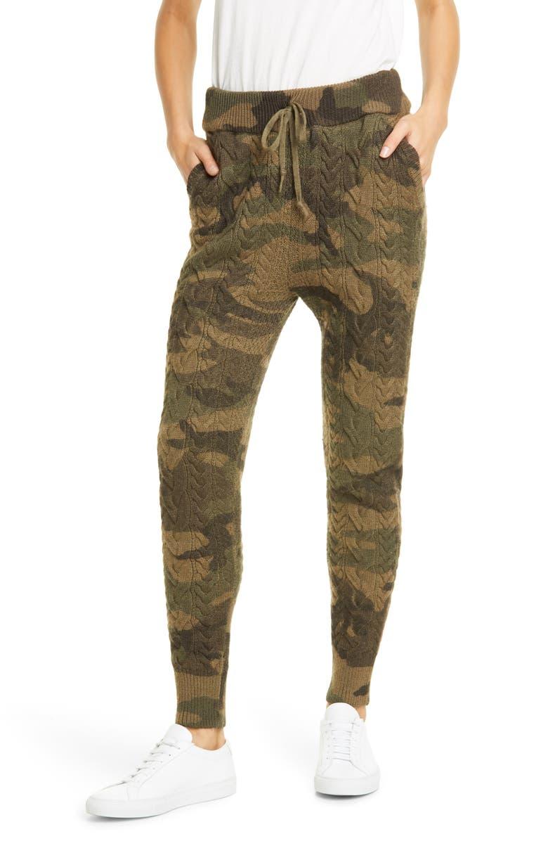 POLO RALPH LAUREN Cable Wool Blend Jogger Pants, Main, color, CAMO