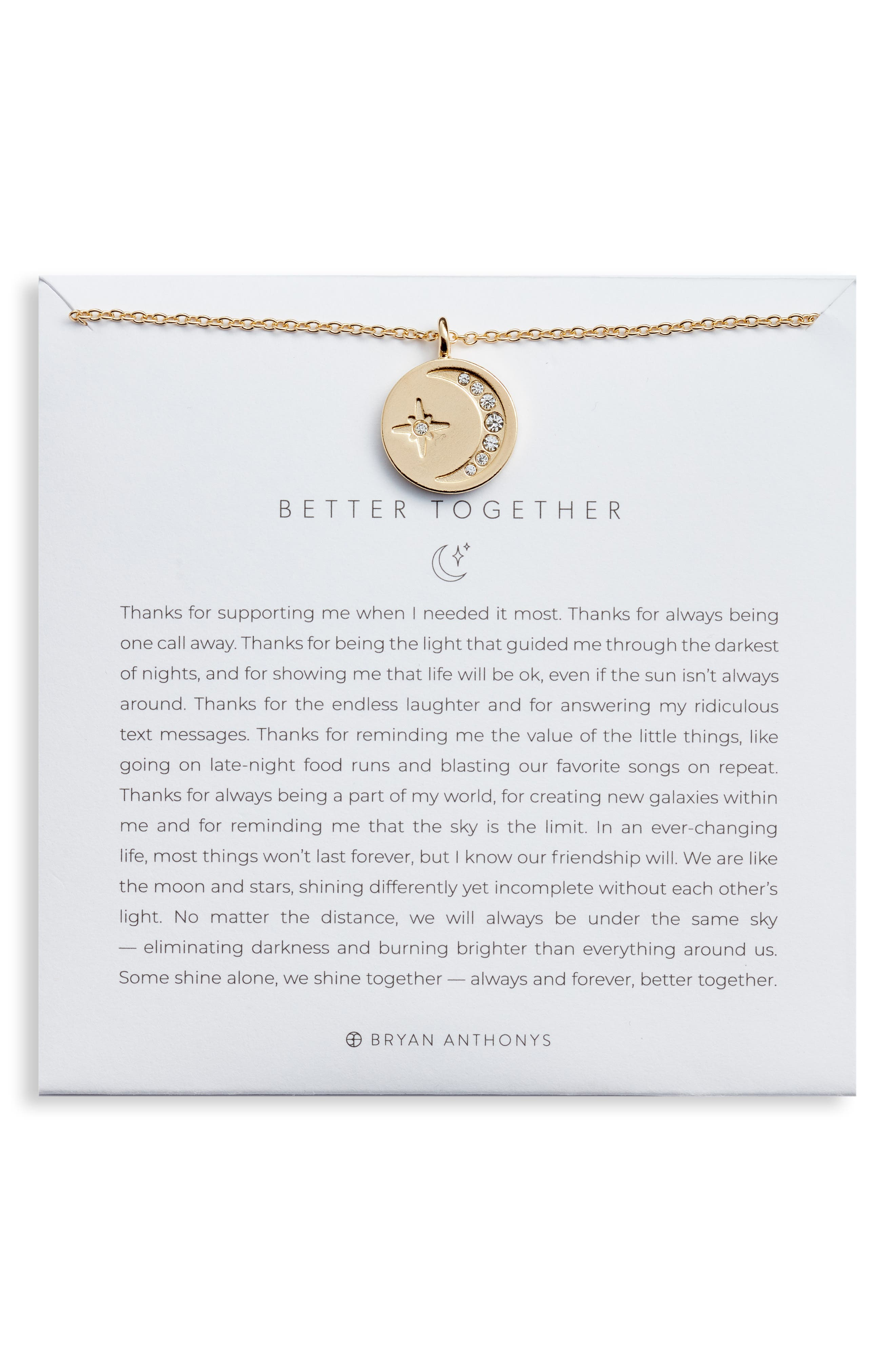 Better Together Pendant Necklace in Silver at Nordstrom