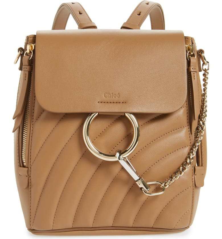 9d131d16 Small Faye Quilted Leather Backpack