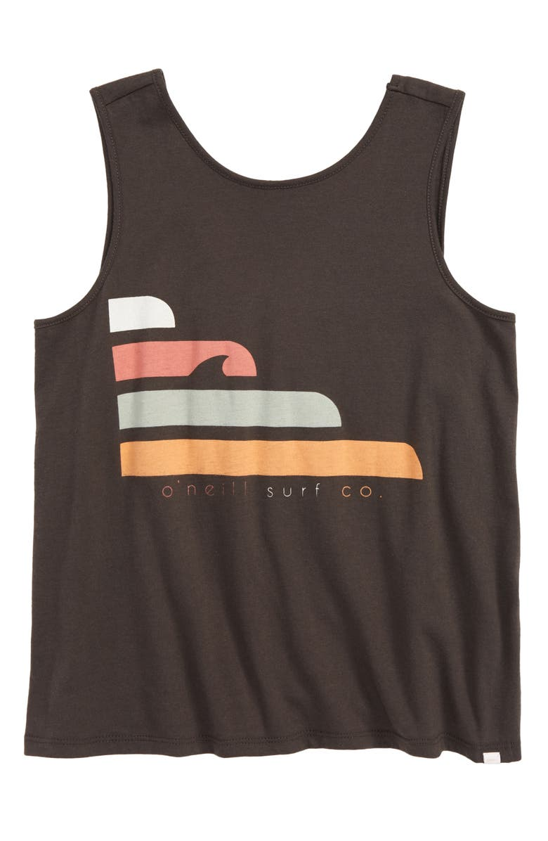 O'NEILL Currents Screen Print Tank Top, Main, color, WASHEDBLK
