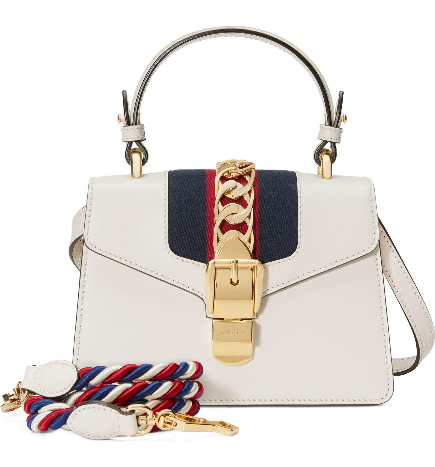 a1502678d0a371 Gucci Mini Sylvie Top Handle Leather Shoulder Bag | Nordstrom