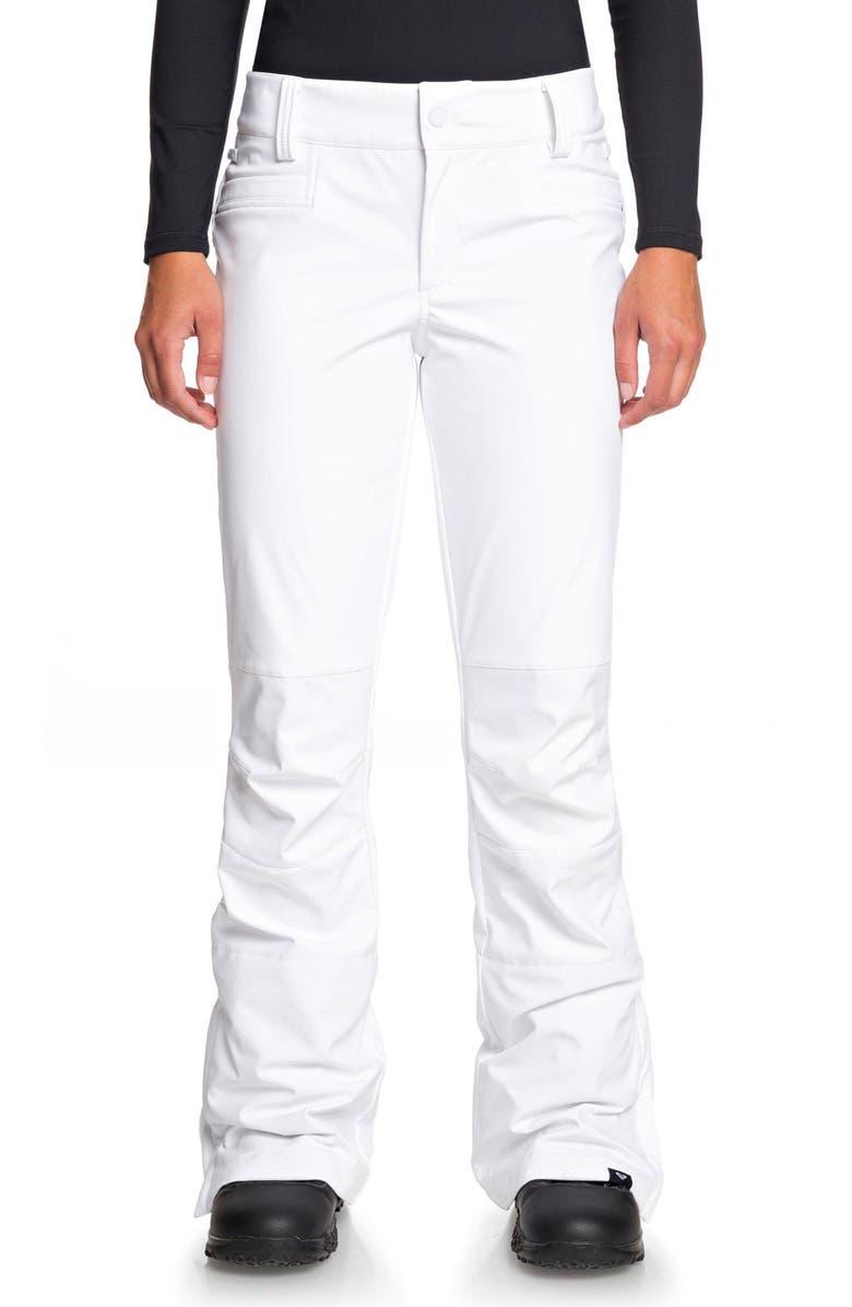 ROXY Creek Snow Pants, Main, color, BRIGHT WHITE