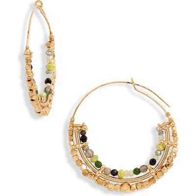 Gas Bijoux Comedia Beaded Hoop Earrings