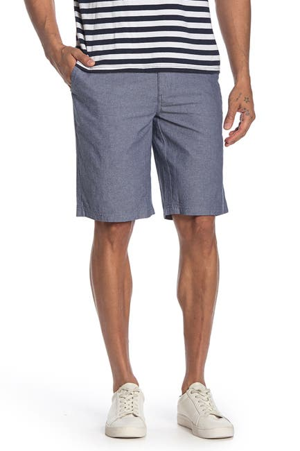 Image of WALLIN & BROS Flat Front Chambray Shorts