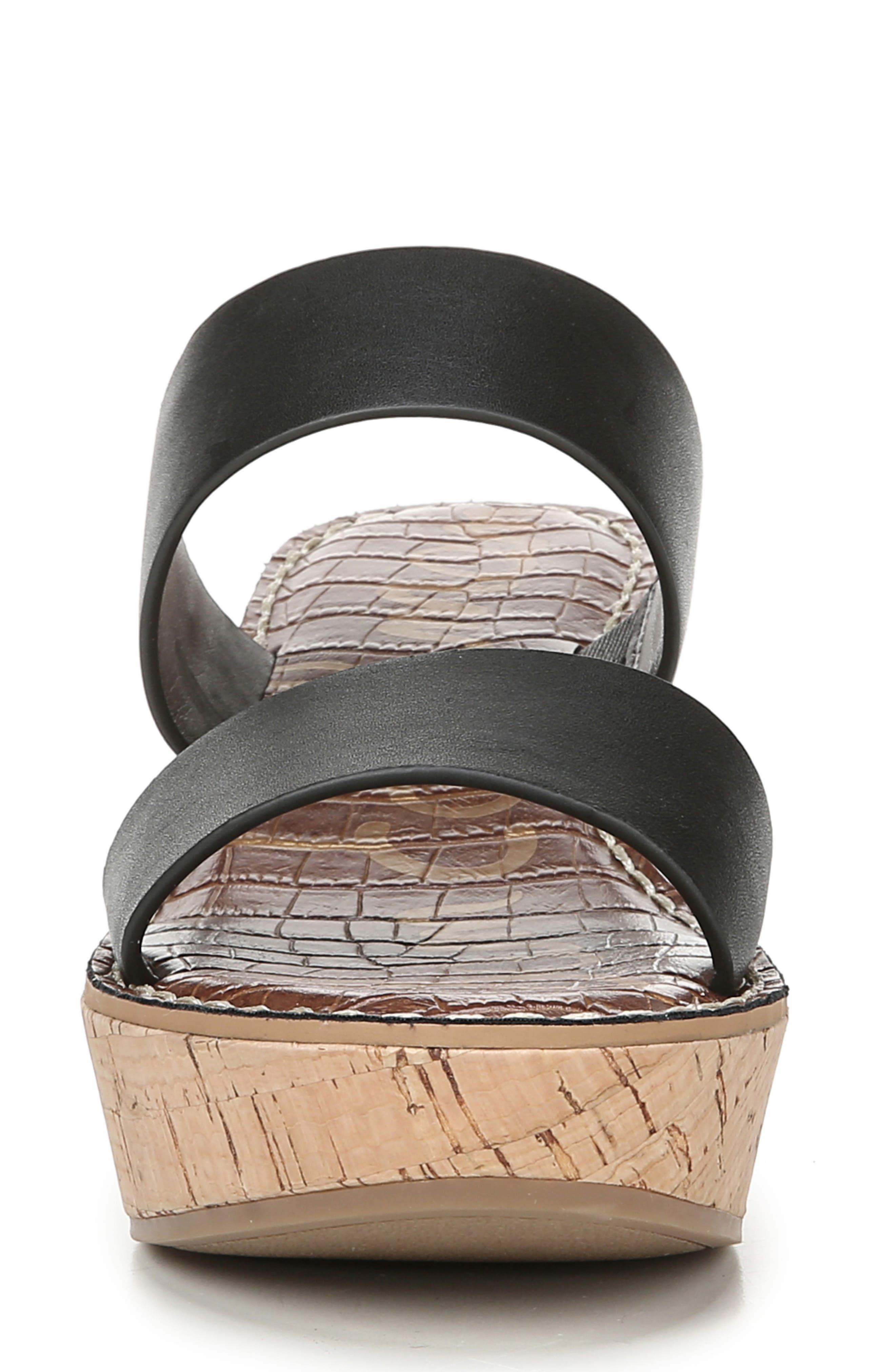 ,                             Rydell Platform Slide Sandal,                             Alternate thumbnail 3, color,                             BLACK LEATHER