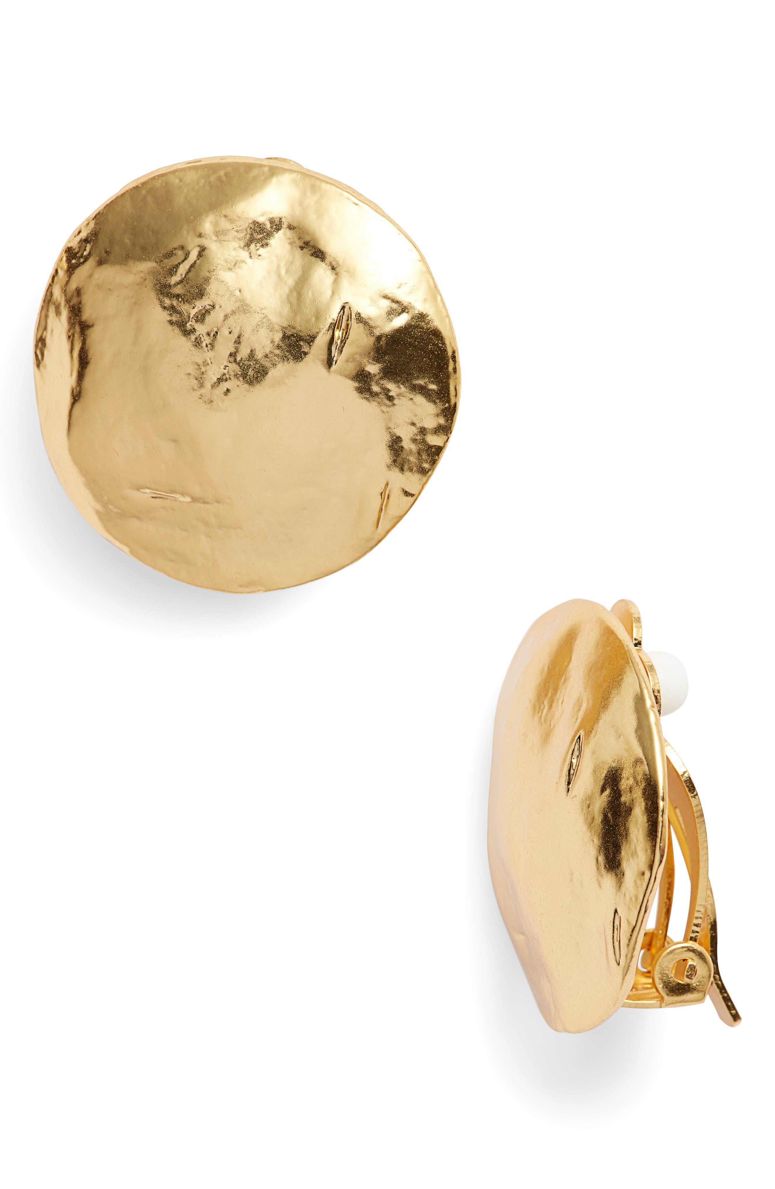Eva Shell Disc Clip-On Earrings