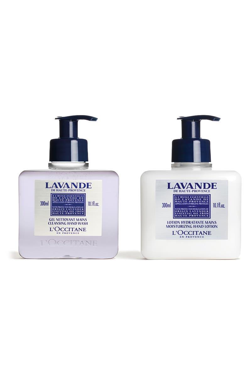 L'OCCITANE Full Size Lavender Hand Wash & Hand Lotion Set-$53 Value, Main, color, NO COLOR