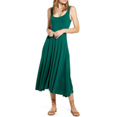 Reformation Rou Midi Fit & Flare Dress, Green