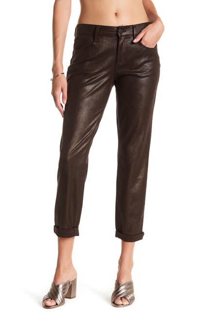 Image of Level 99 Sienna Tomboy Faux Suede Pants