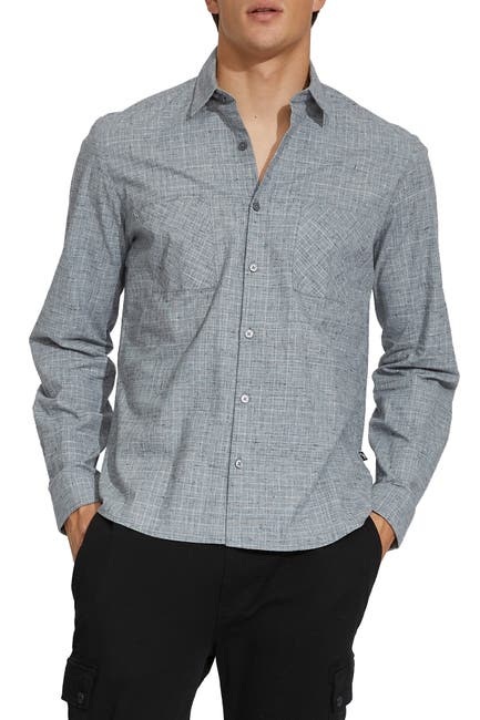 Image of Civil Society Kent Textured Flannel Regular Fit Shirt