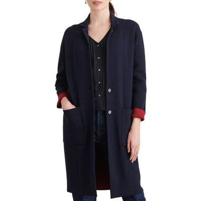 Alex Mill Hall Wool Blend Sweater Coat, Blue
