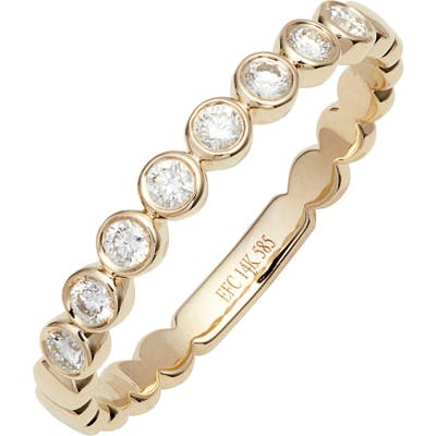 Ef Collection Diamond Bezel Stackable Ring
