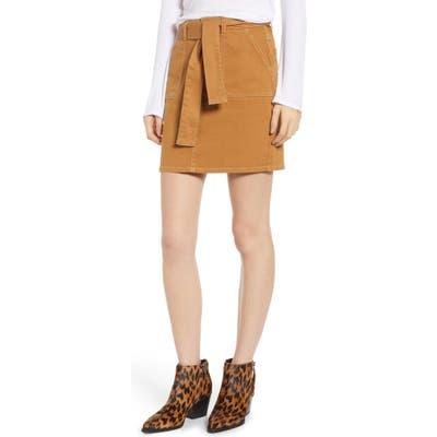 Tinsel Tie Waist Skirt, Yellow