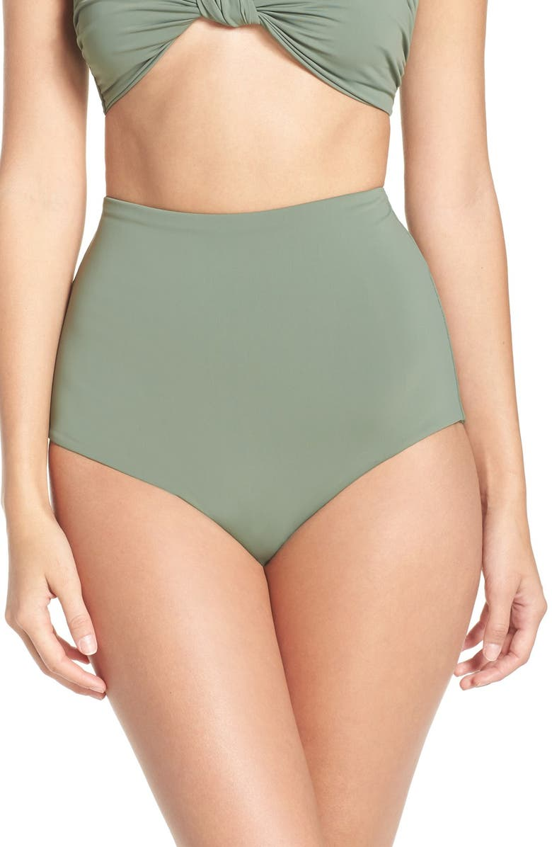 MARA HOFFMAN High Waist Bikini Bottoms, Main, color, 301